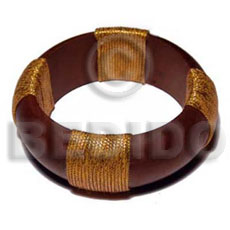 Philippine natural wood bangle in brown crochet bangles