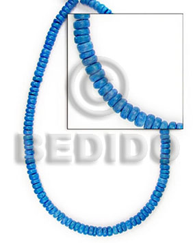 Fashion 4-5 mm blue coco pokalet dyed colored coco beads