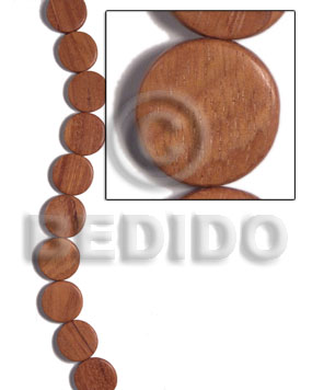 Fashion 20mmx4mm bayong flat round flat round & oval wood beads