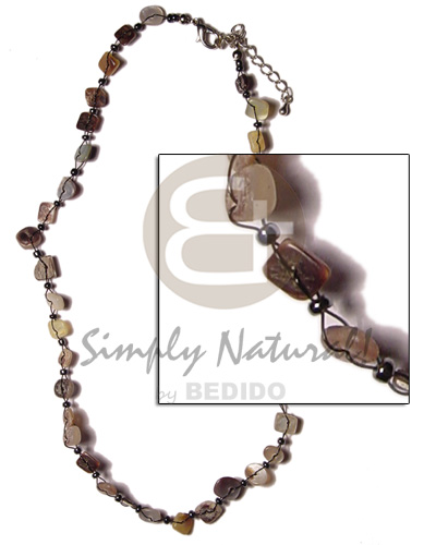 Cebu floating shell nuggets - hammershell floating necklace