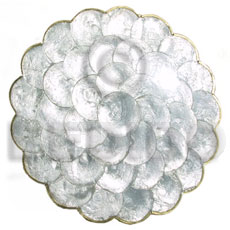 Natural capiz round scallop placemat gifts & home table decor set