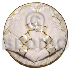 "Handmade round capiz placemat 12"" gifts & home table decor set"