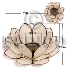 Native natural capiz natural white lotus gifts & home table decor set