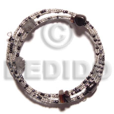 Wholesale glass beads in hoop wire glass beads bracelets