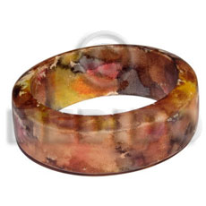 Natural multicolored and matte coated high hand painted bangles
