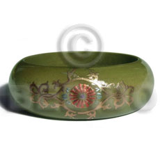 Philippines early spring tone embossed hand painted bangles