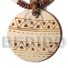 Fashion 50mm round coco pendant hand painted pendants