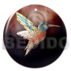 Wholesale round 40mm blacktab handpainted hand painted pendants