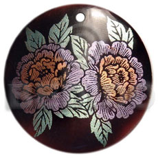 Philippine round 40mm blacktab handpainted hand painted pendants