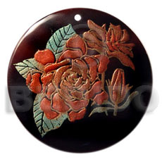 Philippines round 40mm blacktab handpainted hand painted pendants