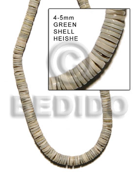 Cebu 4-5mm green shell heishe heishe shell beads