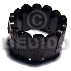 Cebu elastic capsule black horn bangle horn bone bangles