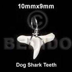 Fashion dog shark teeth pendant 10mmx9mm- horn pendants
