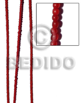 Teens red horn round beads 4mm horn round beads