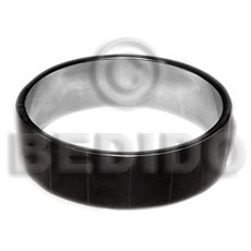 Fashion laminated blacktab in 3 4 inch inlaid metal bangles