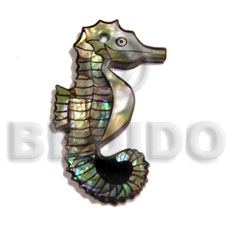 Philippine shell inlaid seahorse inlaid pendants