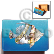 Philippines wooden jewelry box blue jewelry box