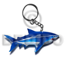 Philippines shark handpainted wood keychain 110mmx50mm keychain