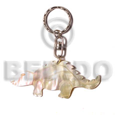 Natural 40mm carved mop shell keychain keychain