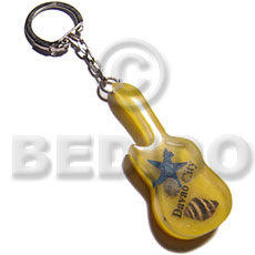 Philippines 60mmx25mm yellow resin guitar keychain