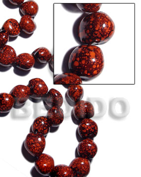 Unisex 16 pcs. of kukui nuts kukui lumbang nuts beads