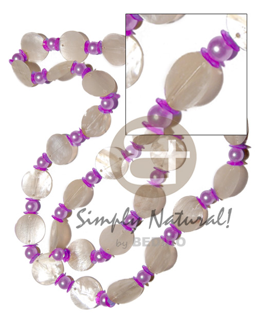 Philippine 27 pcs. single row 25mm long endless necklace