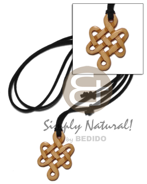 Philippine celtic knot antique carabao natural mens necklace