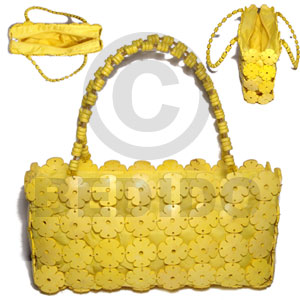Ethnic yellow coco flowers inner native bags