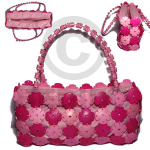 Cebu two toned pink coco flowers native bags