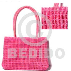 Philippines pink abaca fiber bag native bags