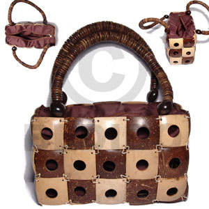 Philippines natural brown natural white combination square native bags