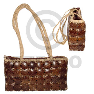 Unisex coco bag recta large 11x3x6 native bags