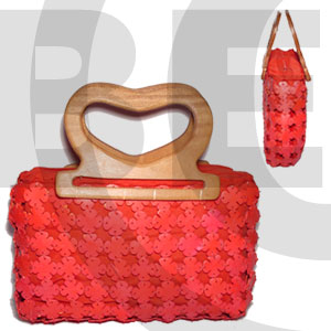 Cebu coco flower with lining red native bags