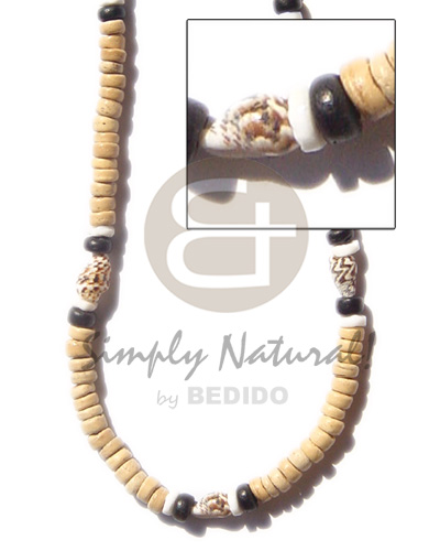 Native coco pokalet nat nassa natural earth color necklace