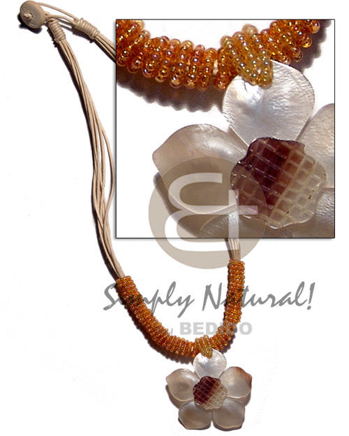 Cebu 8 layers wax cord natural earth color necklace