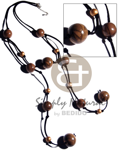 Natural dangling 20mm 25mm round natural earth color necklace