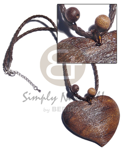 Handmade 2 braided leather textured natural earth color necklace