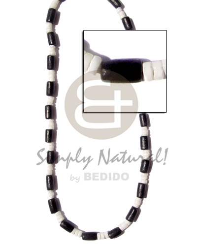 Philippines 4-5mm white clam black natural earth color necklace