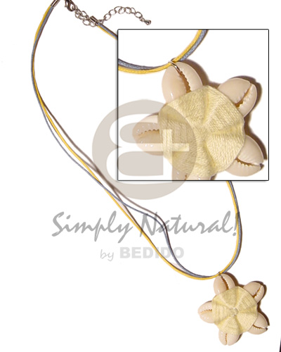 Philippines flower sigay center cloth natural earth color necklace