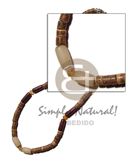 Unisex 4-5 coco natural brown hesihe natural earth color necklace