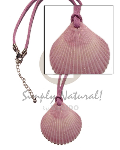 Cebu clam pink palium pigtim shell necklace with pendant