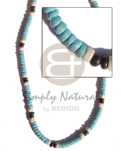 Fashion 4-5mm coco pokalet. baby blue pastel color necklace