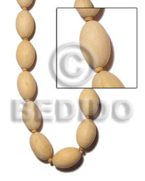 Philippines natural white wood oval 21mmx31mm plain wood beads