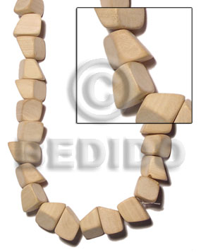 Cebu natural white wood chunk 17mmx17mmx23mm plain wood beads