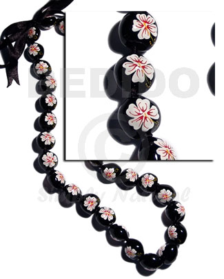 Wholesale lei black kukui seeds polynesian leis