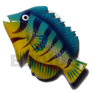 Wholesale fish handpainted wood refrigerator refrigerator magnets