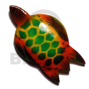 Ethnic sea turtle handpainted wood refrigerator refrigerator magnets