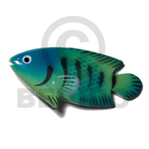 Wholesale fish handpainted wood refrigerator magnet refrigerator magnets