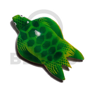 Native sea turtle handpainted wood refrigerator refrigerator magnets
