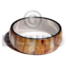 Handmade laminated inlaid banana bark resin bangles